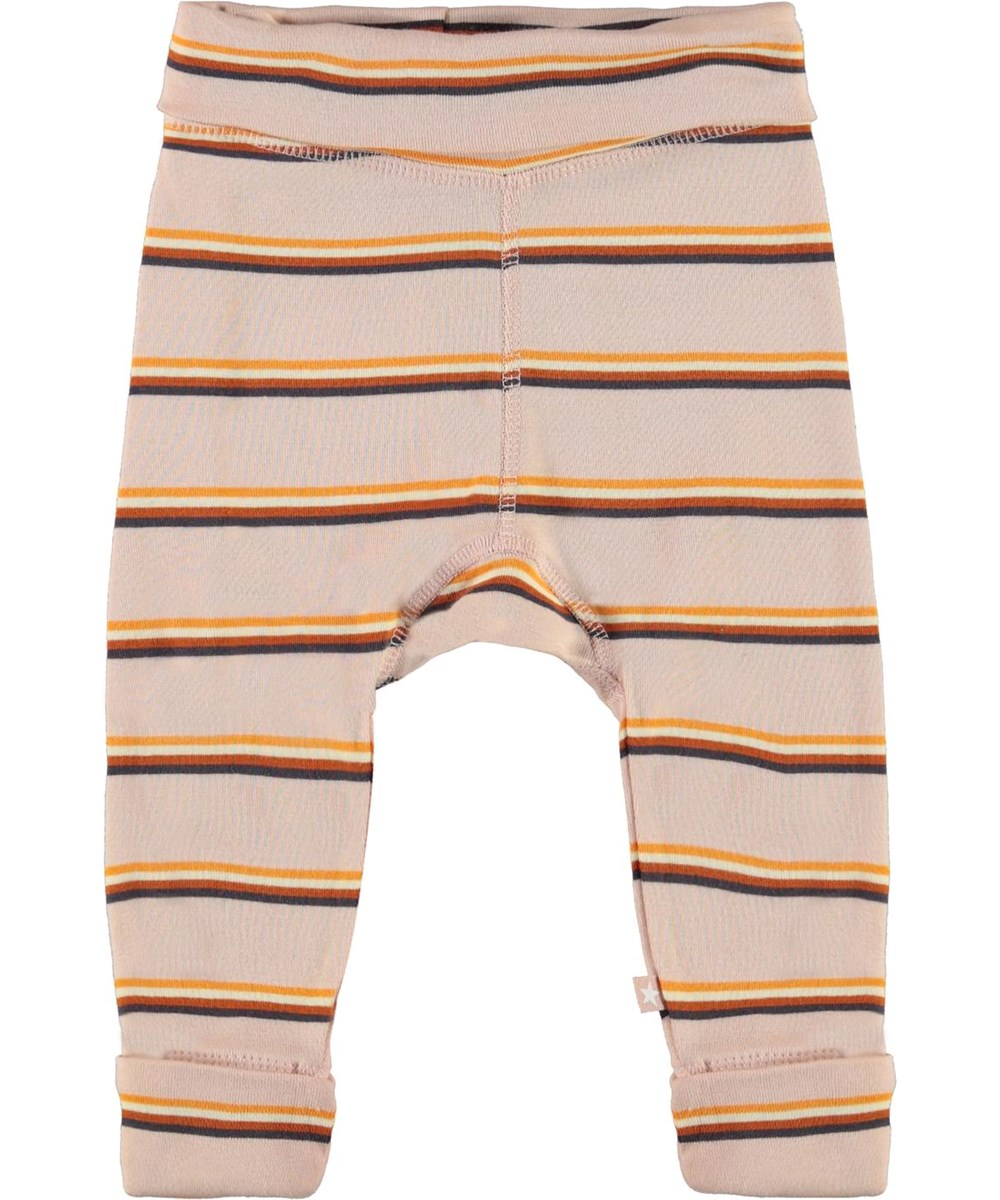 San - Cameo Stripe - Pink organic baby trousers with stripes