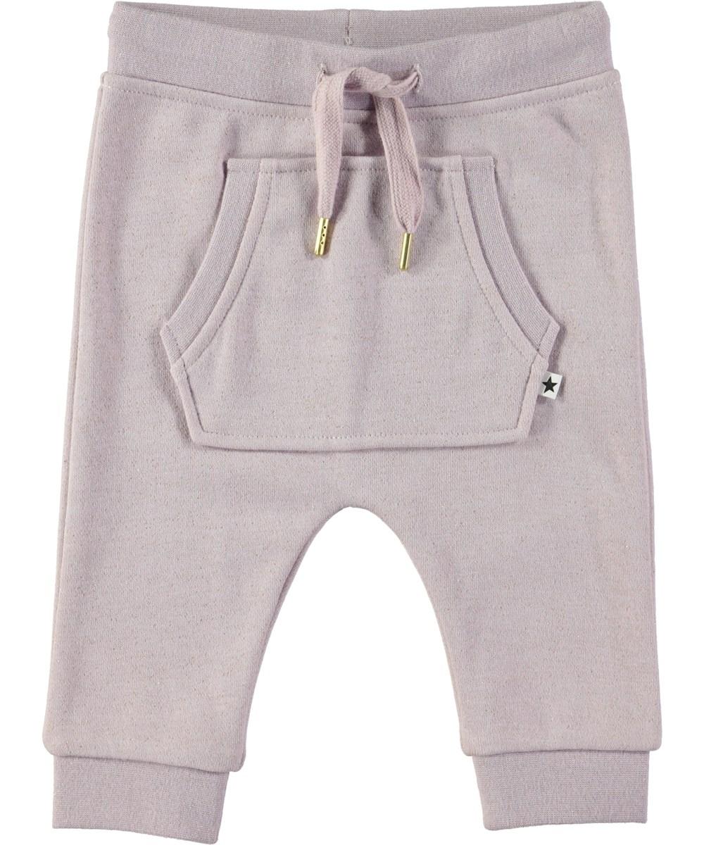Sandie - Lilac - Purple baby sweatpants with glitter