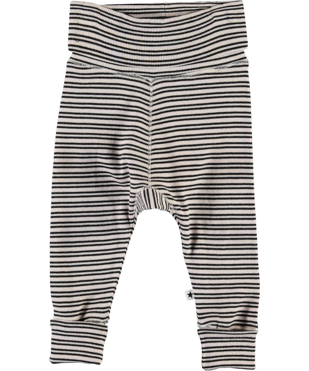 Sara - Blossom Black Stripe - Striped baby trousers