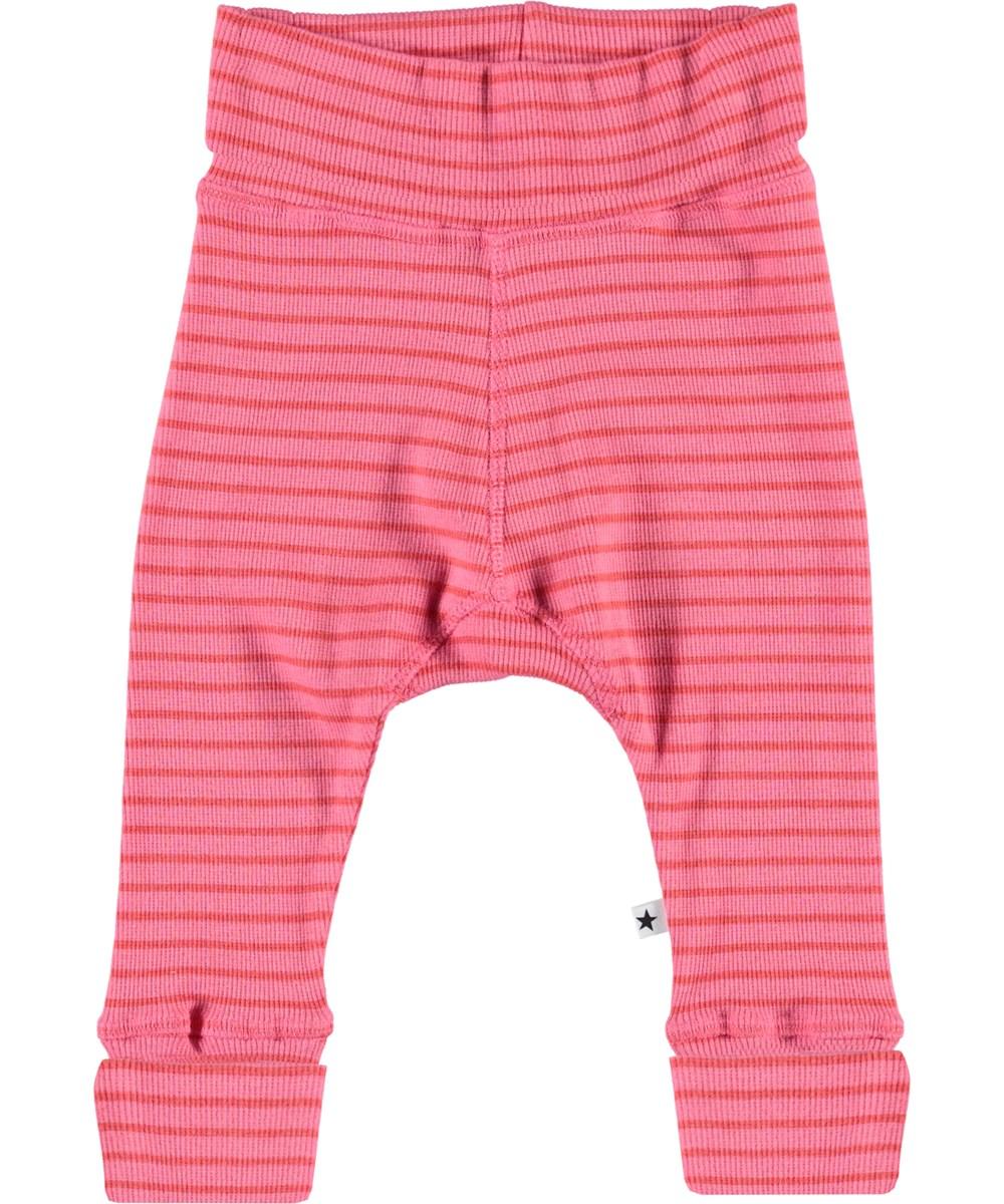 Sara - Pink Sienna Stripe - Striped baby trousers