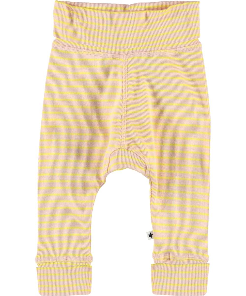 Sara - Powder Acacia Stripe - Striped baby trousers
