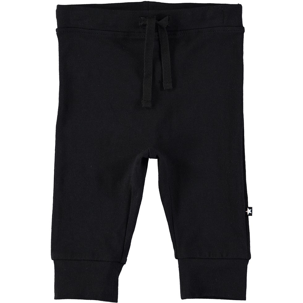 Selena - Black - Black baby trousers with ties