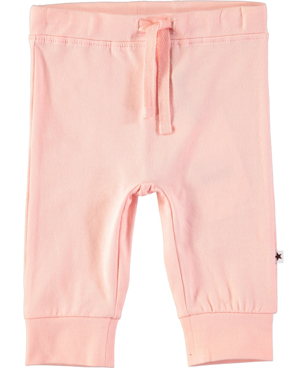Selena - Dawn - Powder coloured baby trousers with ties