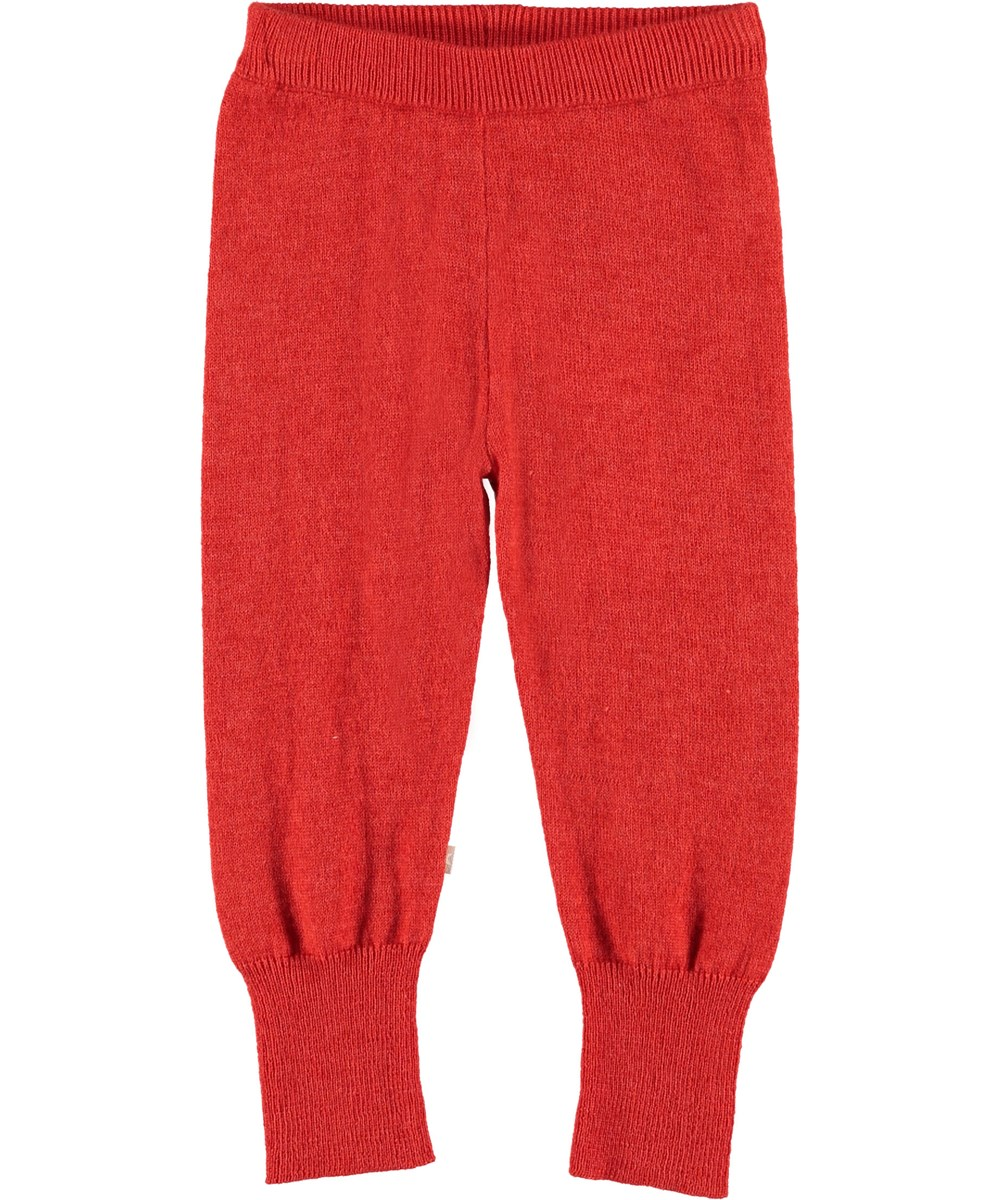 Shade - Vermilion Red - Red baby trousers.
