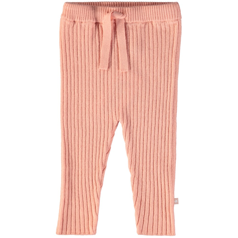 Shadow - Dusty Pink - Powder coloured baby trousers in wool blend