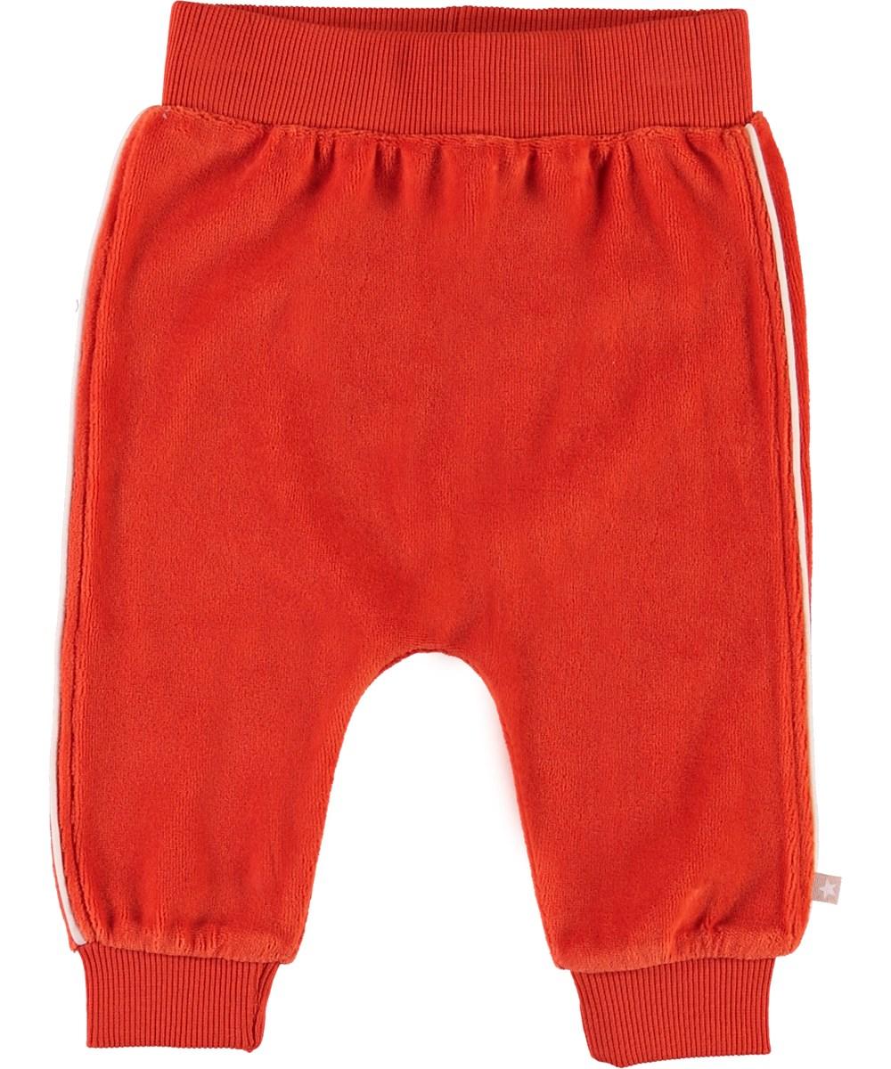 Shona - Rising Sun - Red velour trousers