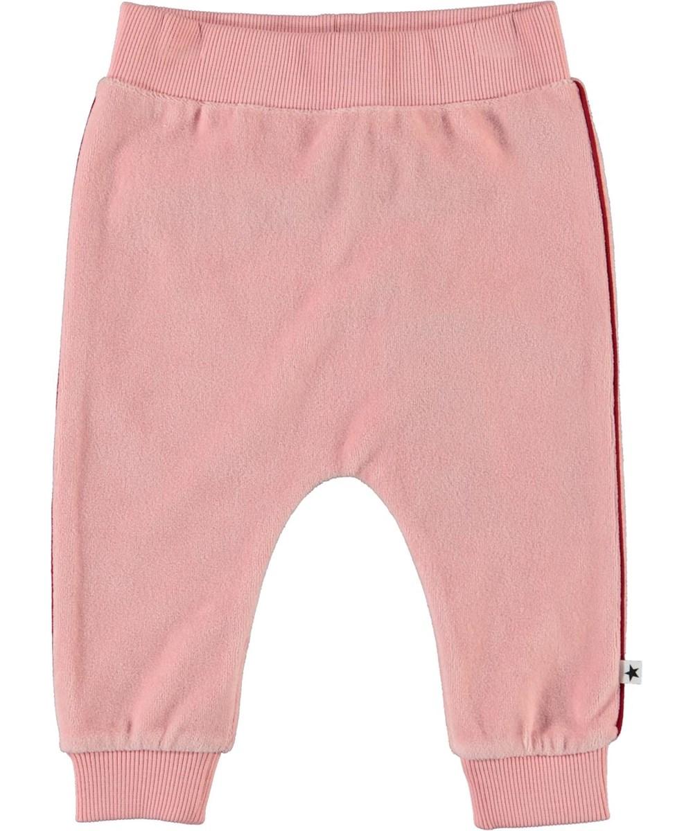 Shona - Rosequartz - Pink velour baby trousers