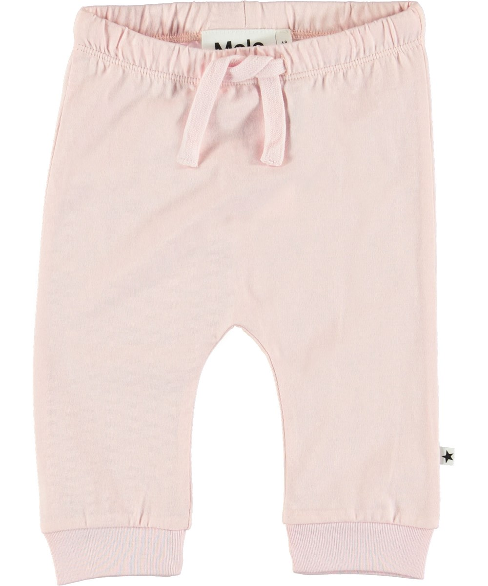 Sille - Chalk Pink - Pink baby trousers.