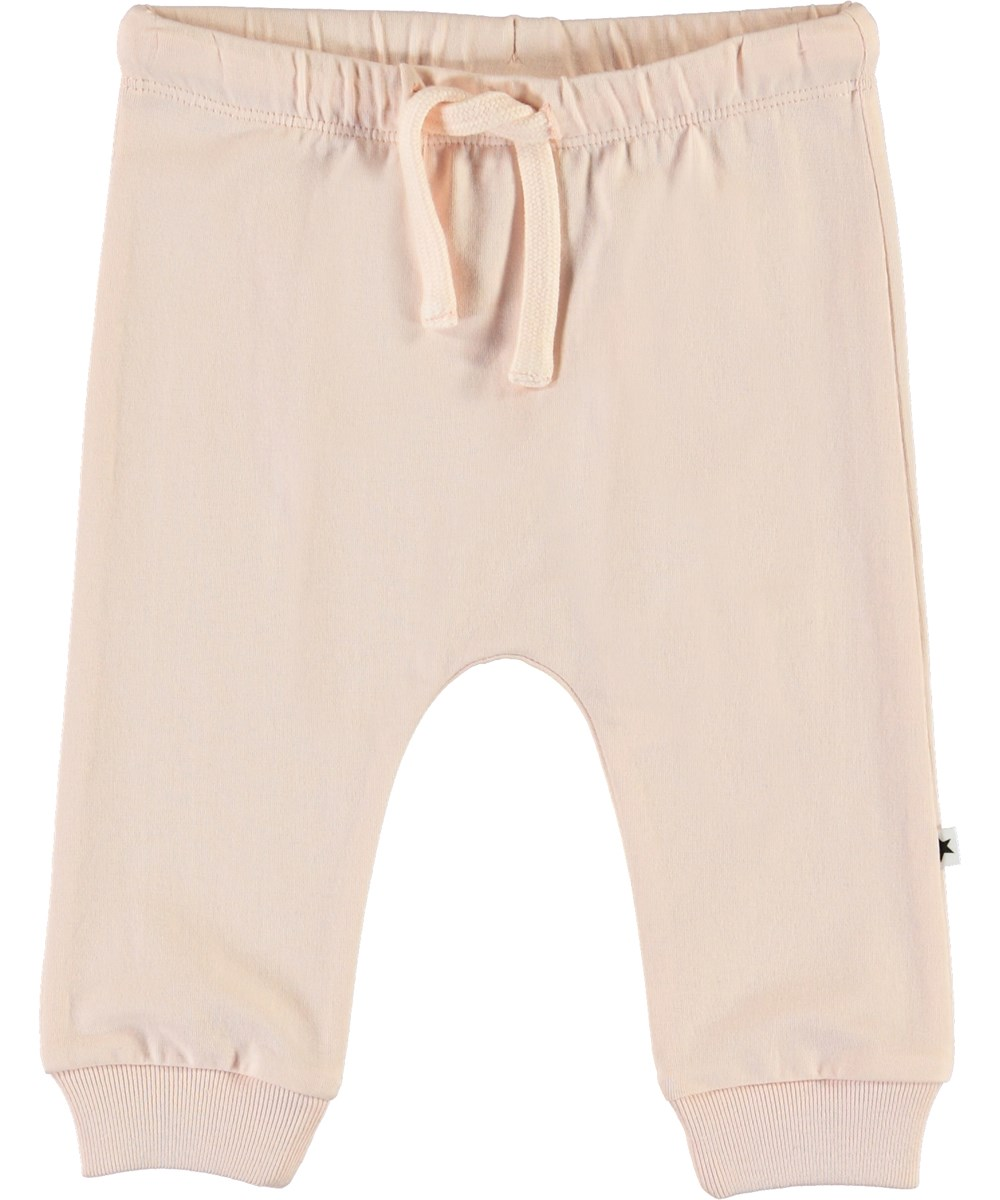 Sille - Peach Blossom - Rose organic baby trousers