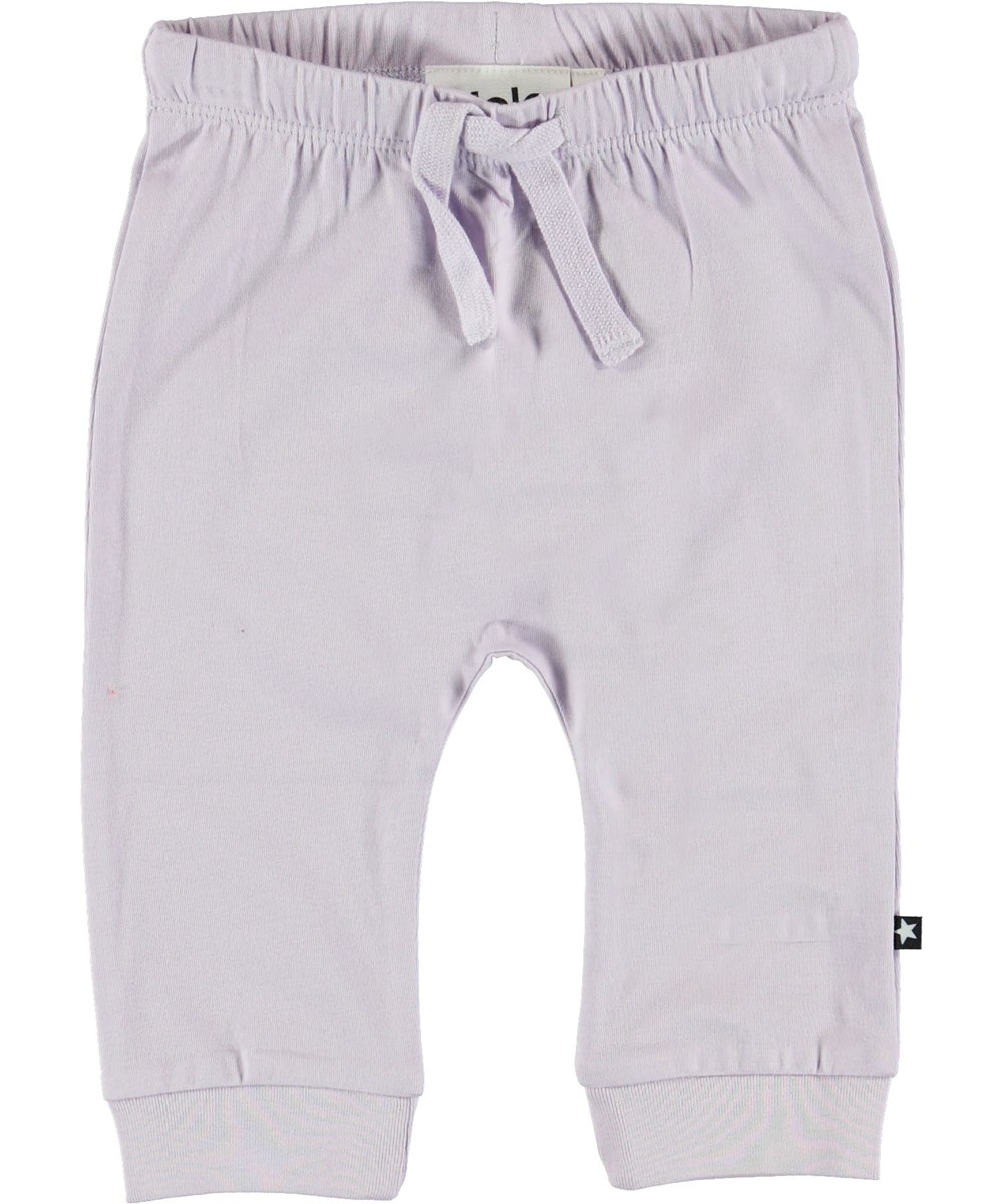Sille - Frozen Lilac - Purple baby trousers.