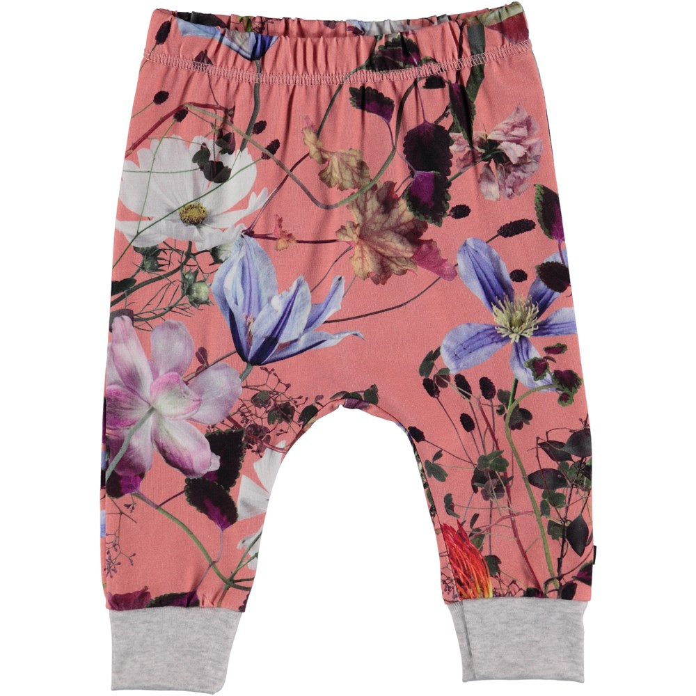 Simone - Flowers Of The World - Flowered baby trousers.