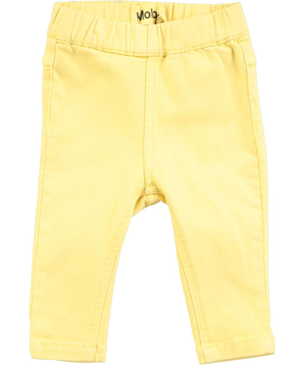 Simonetta - Raffia - Yellow baby denim jeggings