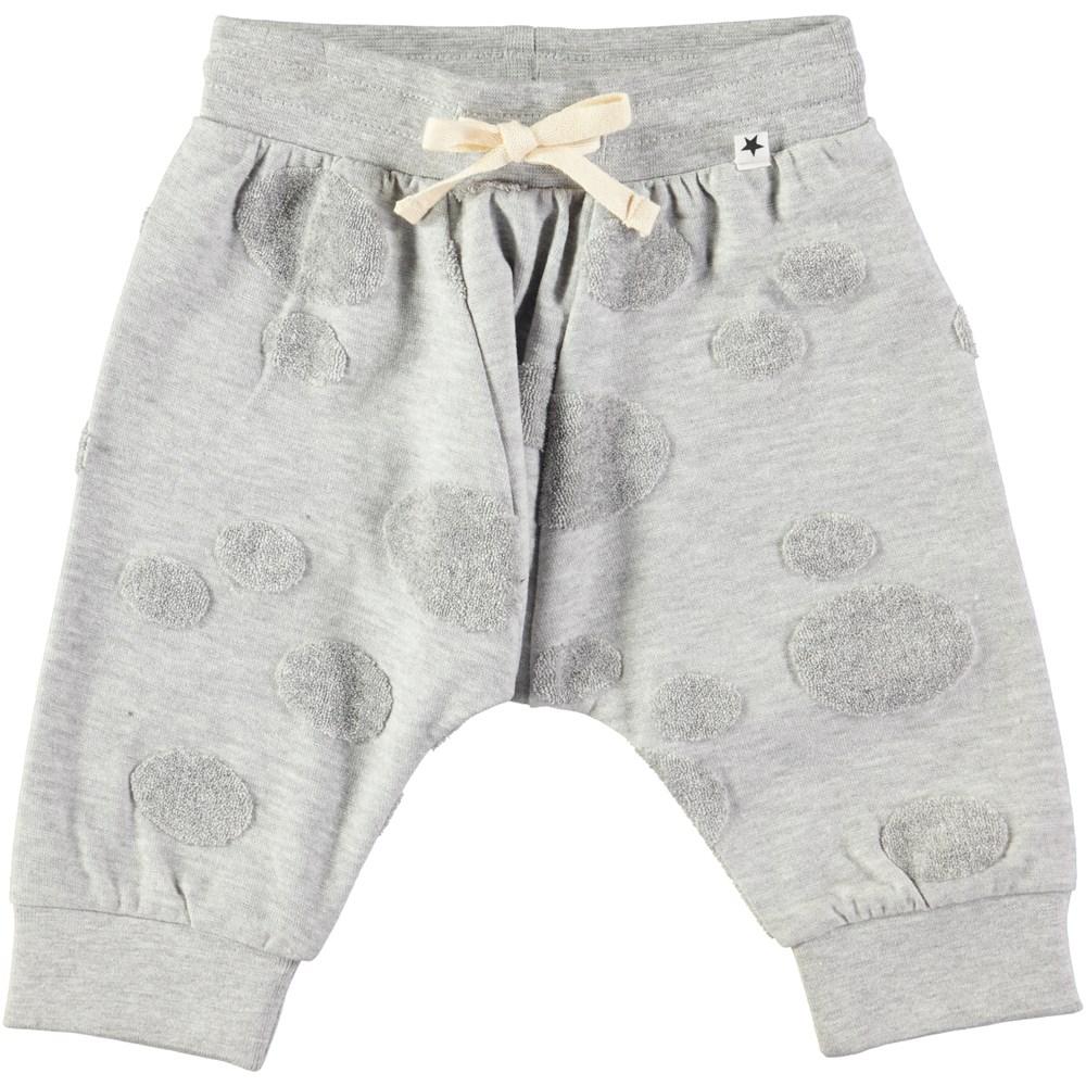 Sona - Light Grey Melange - Roomy grey baby sweatpants