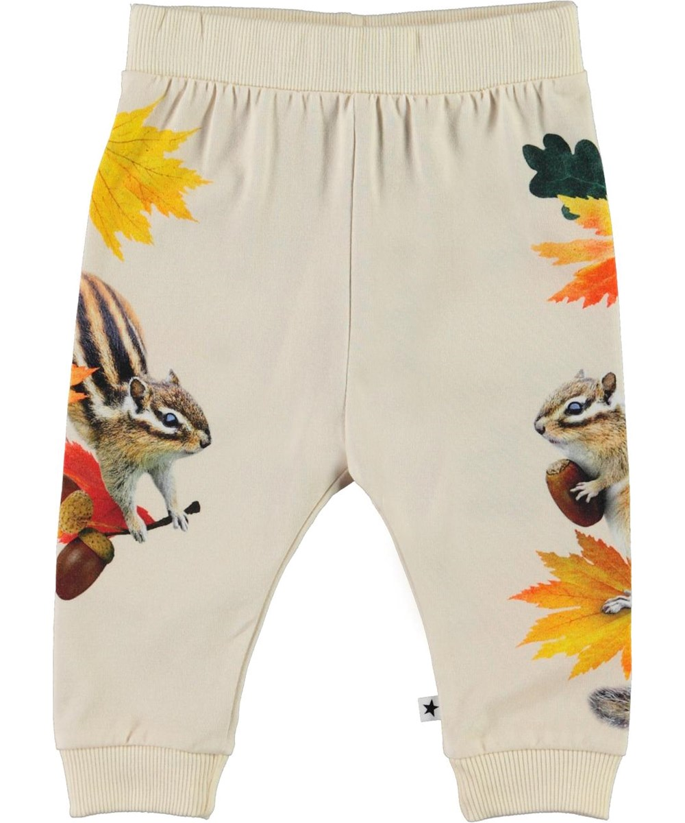Susanne - Tiny Chipmunks - Organic baby trousers with squirrel print