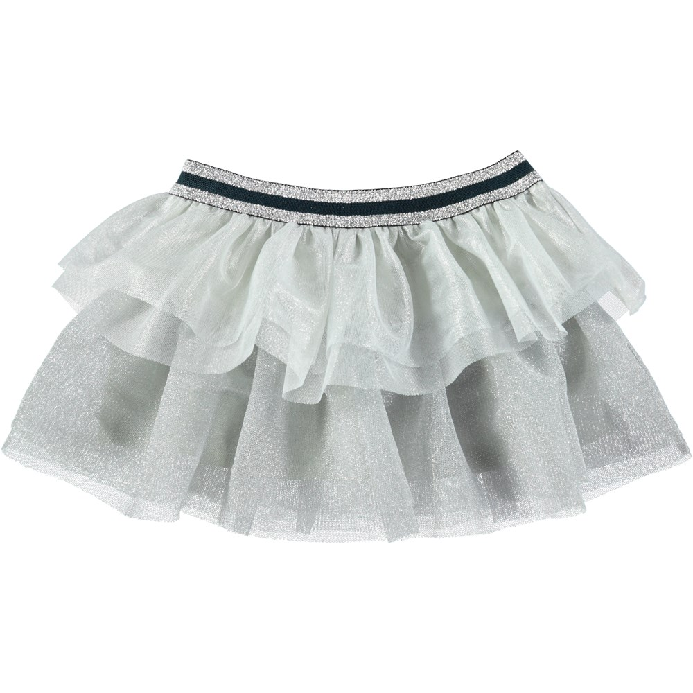 Bianca - Silver - Silver coloured baby tulle skirt