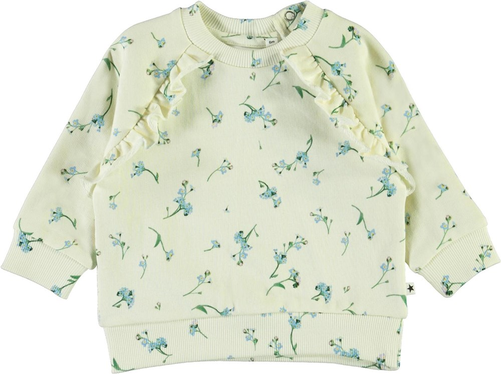 Dayna - Forget Me Not - Baby sweatshirt with blue flowers