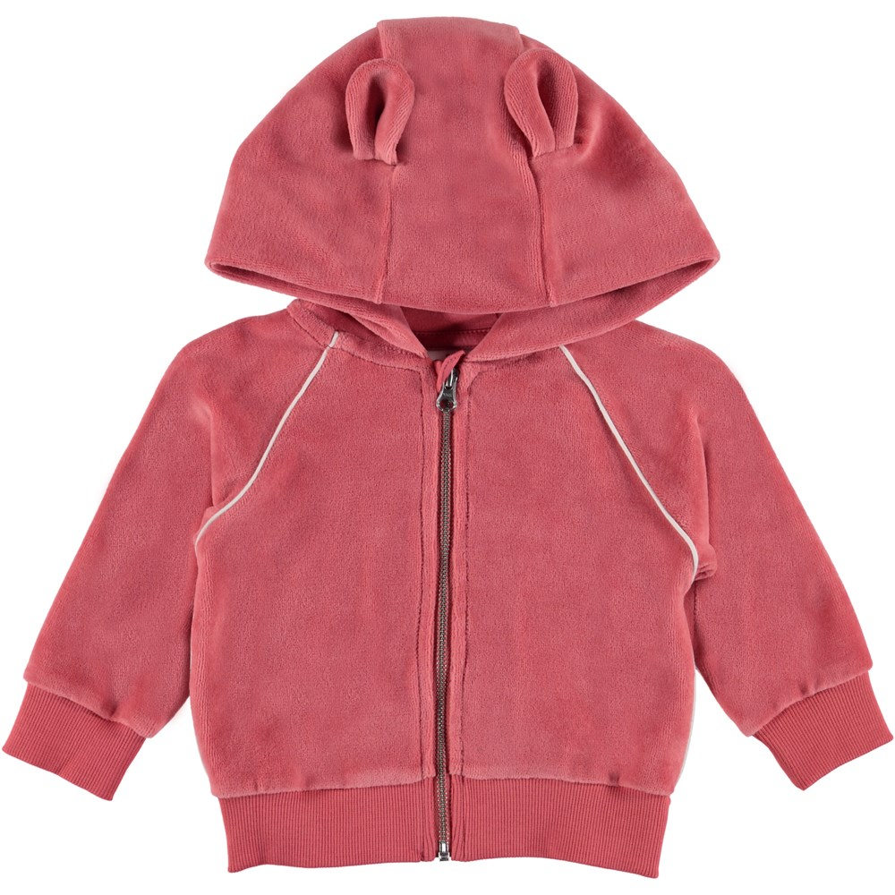 Dorothy - Rare Orchid - Baby velour hoodie.