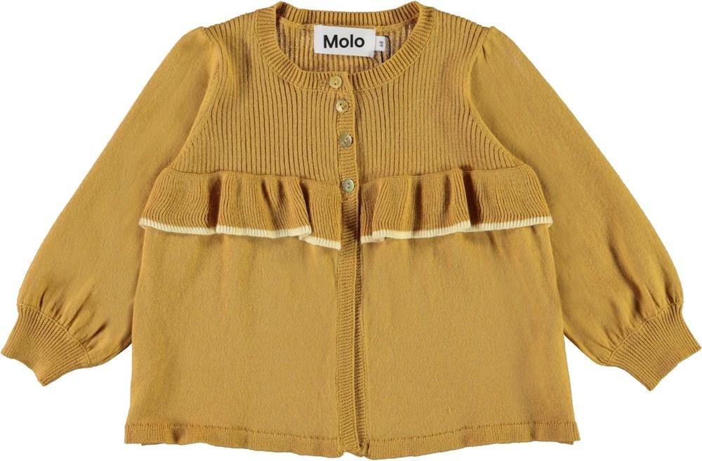 Gerda - Honey - Honey coloured baby knit cardigan
