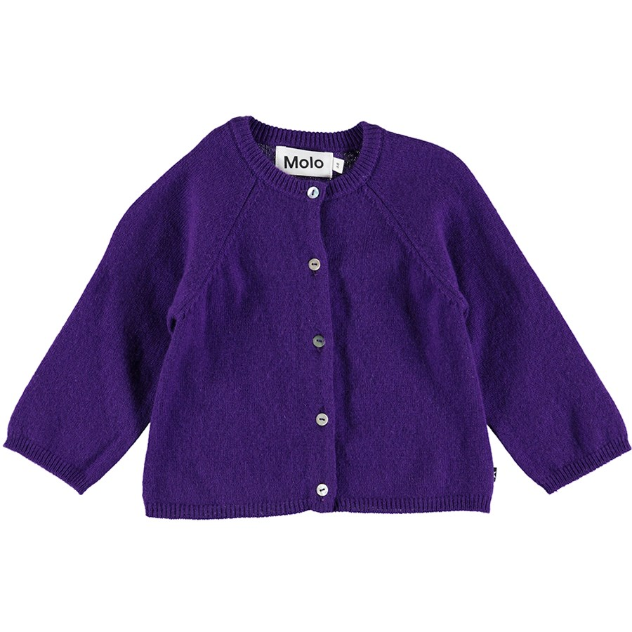 Ginger - Purple Rain - Purple baby cardigan in wool and cashmere