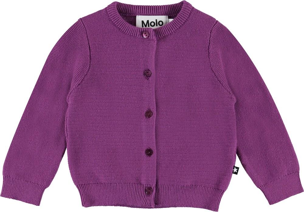 Ginny - Amethyst - Purple baby cardigan