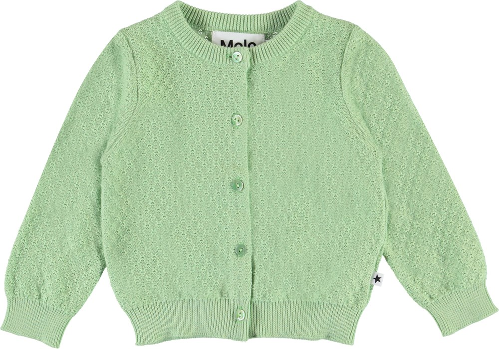 Ginny - Apple Sorbet - Light green baby cardigan