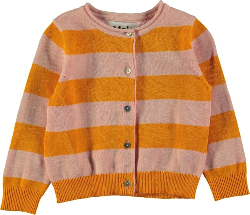 Glenda - Sunshine Stripe - Long sleeve striped baby cardigan