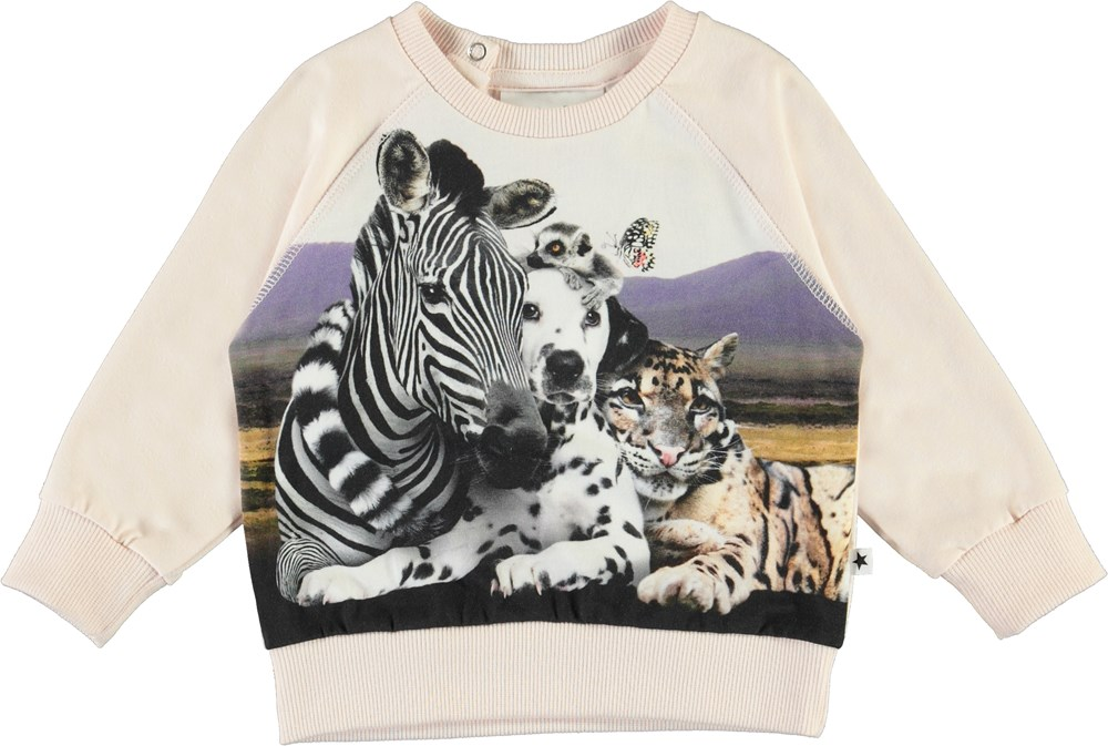 Elsa - Close Together - Baby top with animals