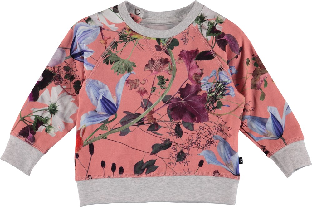 Elsa - Flowers Of The World - Flower baby sweatshirt.
