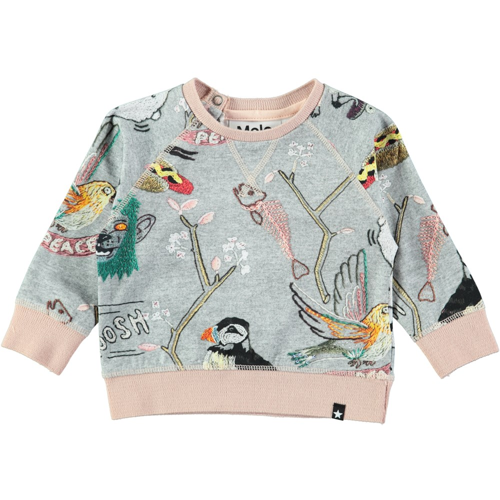 Elsa - Made By Hand - Baby top in a sweatshirt look with digital embroidery print