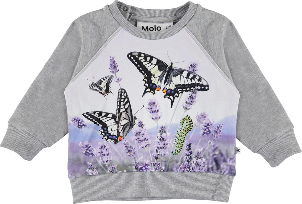 Elsa - Metamorphosis Baby - Organic baby top with butterflies