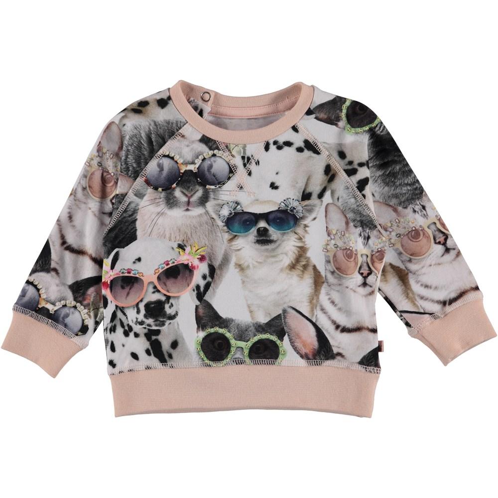 Elsa - Sunny Funny - Baby sweatshirt with animal print.