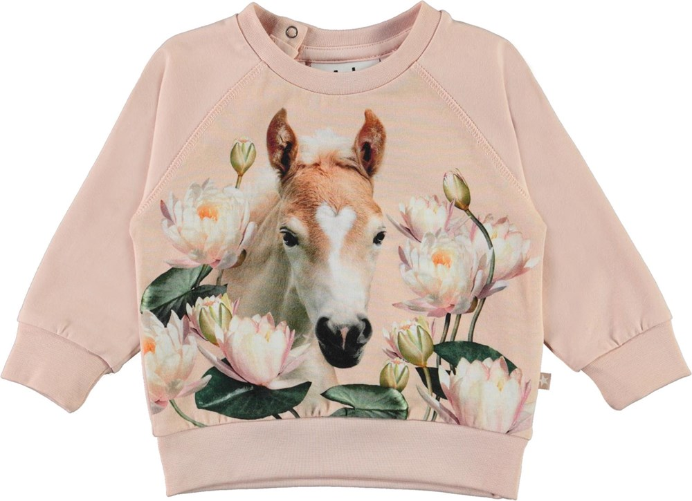 Elsa - Water Lily Foal - Organic baby top with foal and water lilies