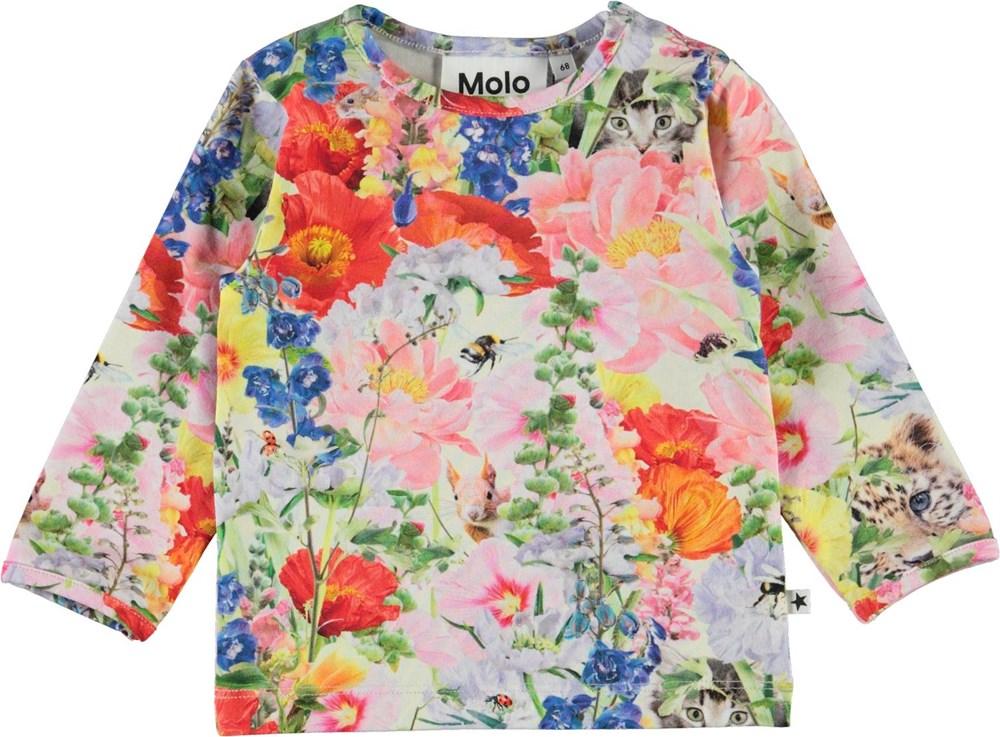 Eva - Hide And Seek - Organic baby top with floral print