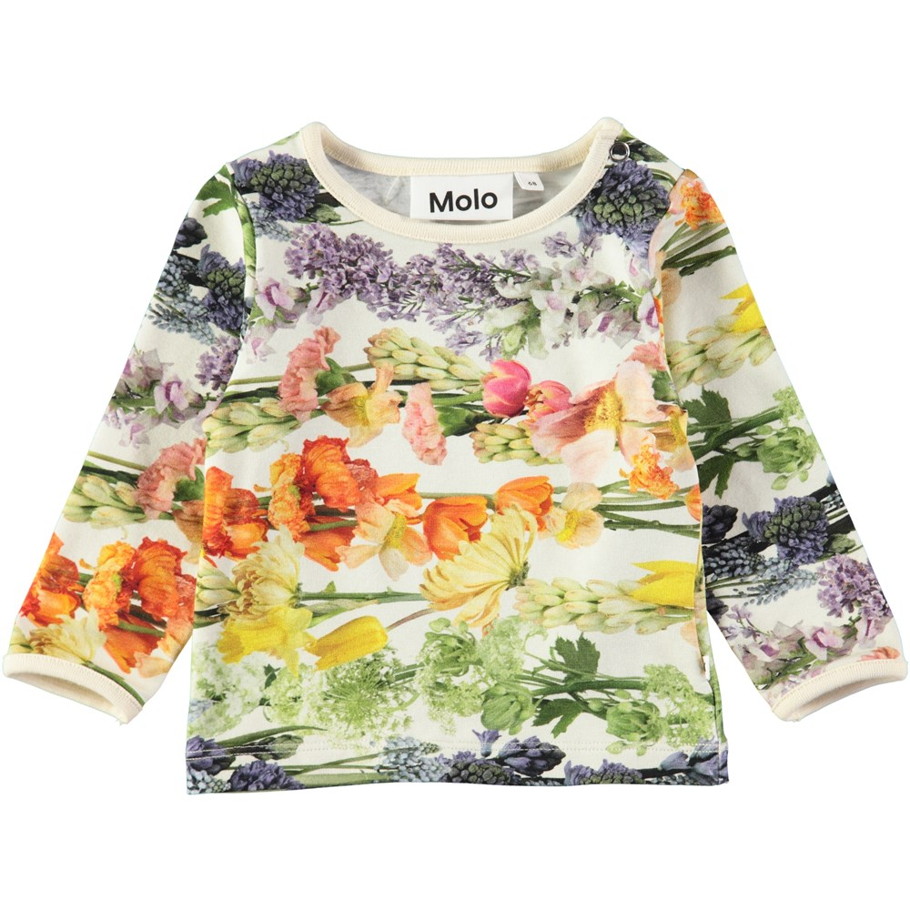 Eva - Rainbow Bloom - Baby top with digital flower print