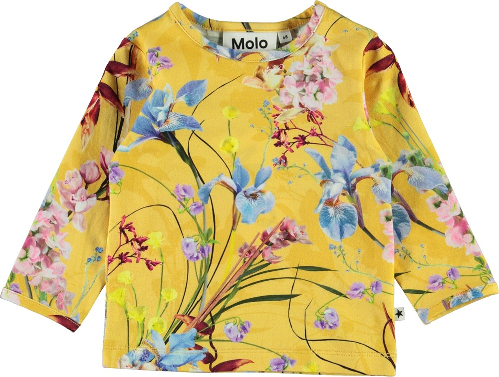Eva - The Art Of Flowers - Yellow baby top with flowers