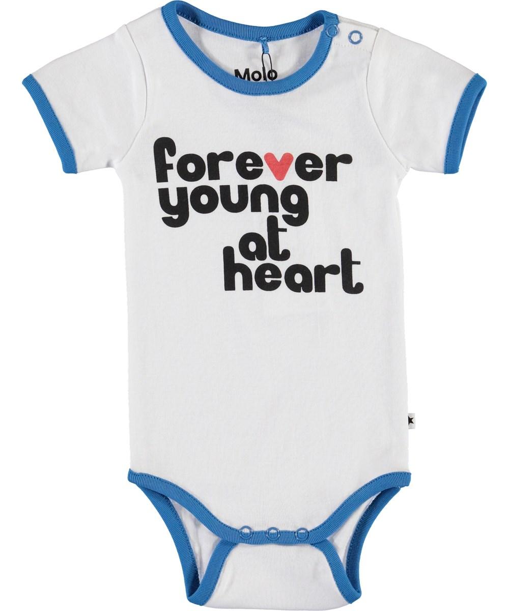 "Fossie - White - Biologische ""Forever Young"" romper"
