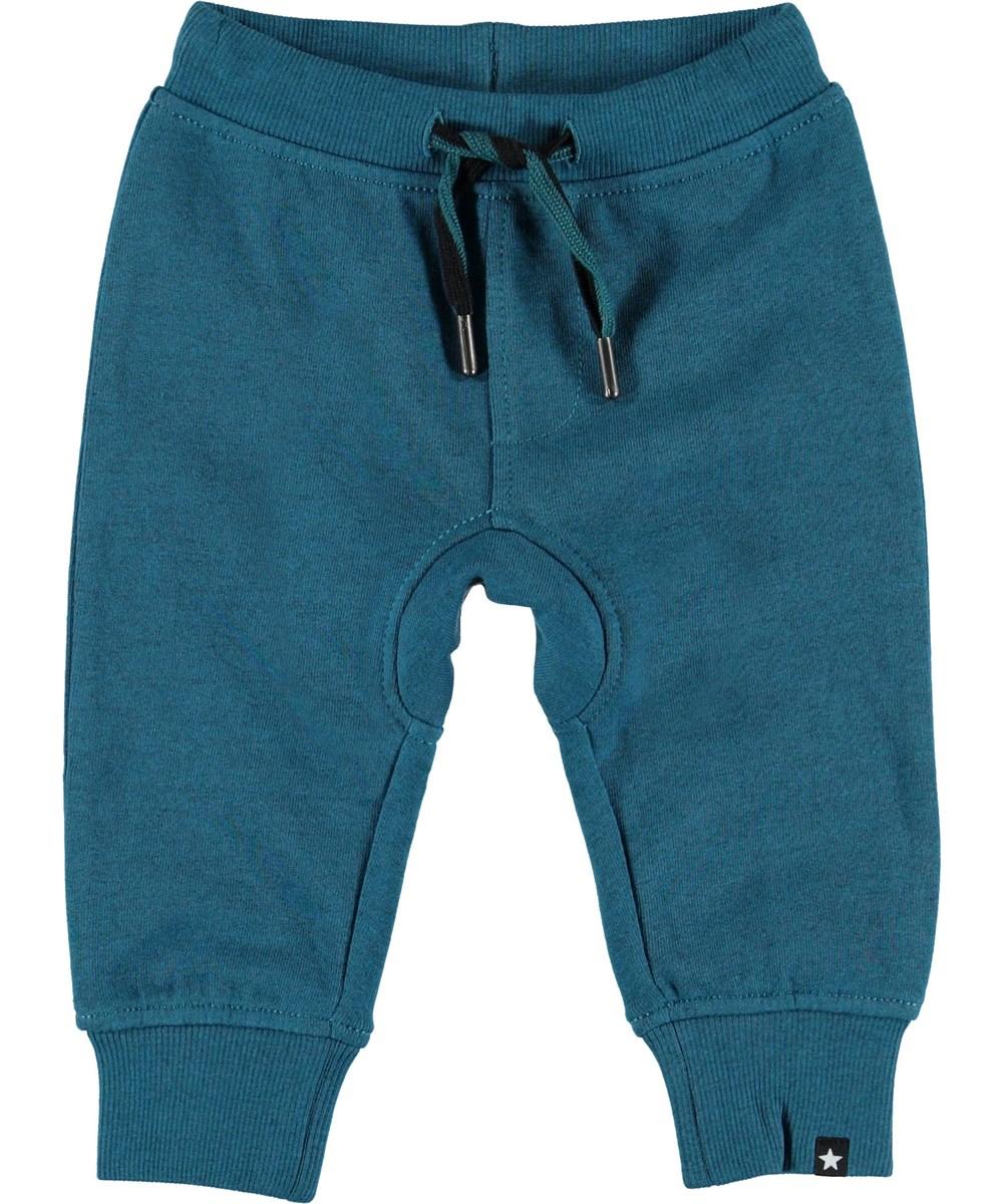 Stan - Frozen Deep - Turquoise baby joggingbroek.