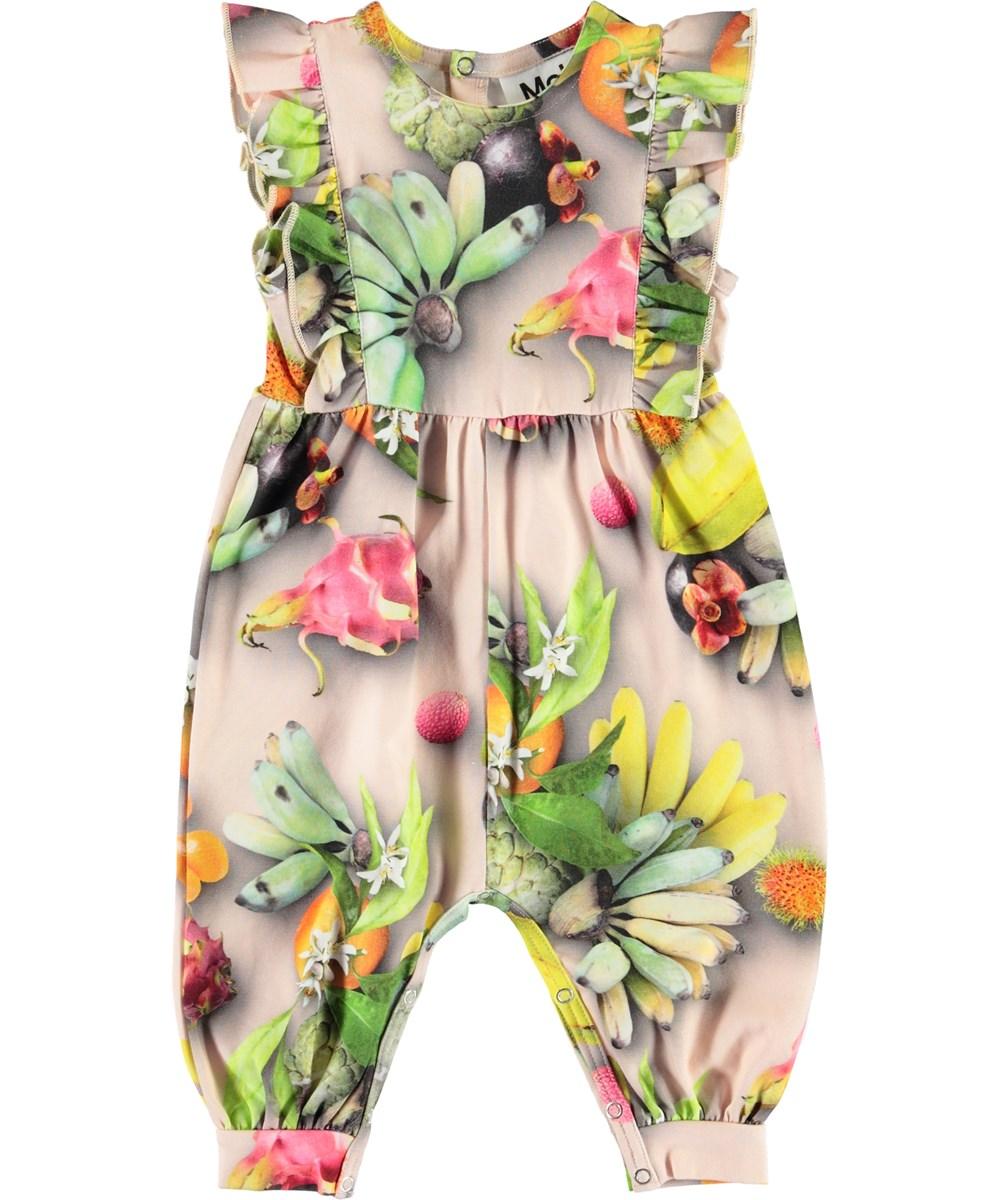Fallon - Tutti Frutti - Økologisk baby dragt med frugter