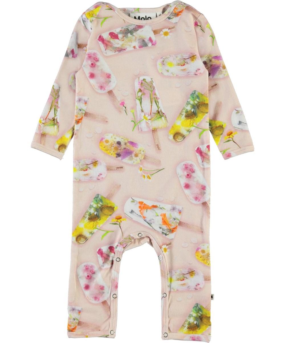 Fiona - Ice Lollies - Økologisk baby heldragt med is print
