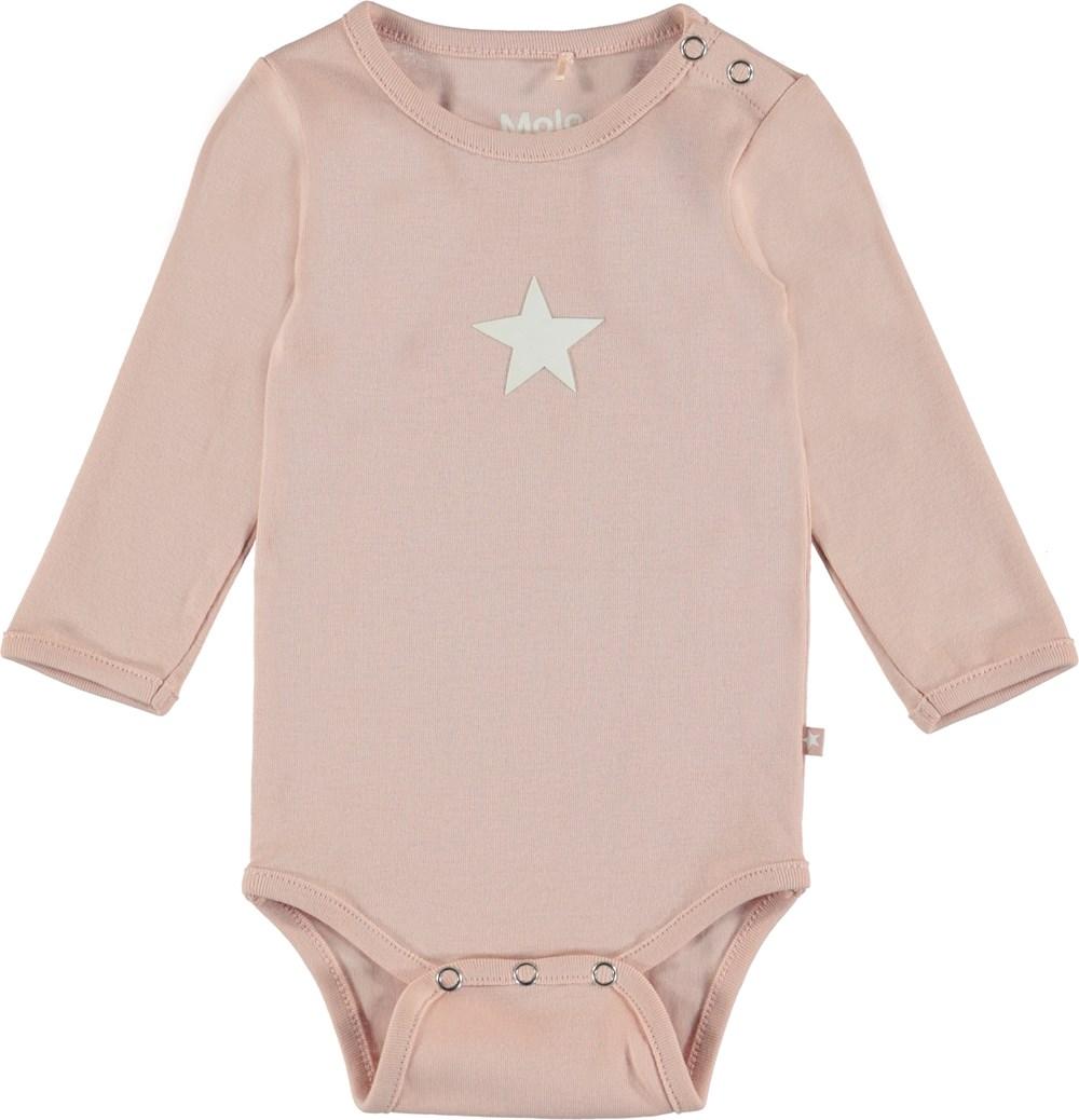 Foss - Cameo Rose - Langærmet baby body i rosa.
