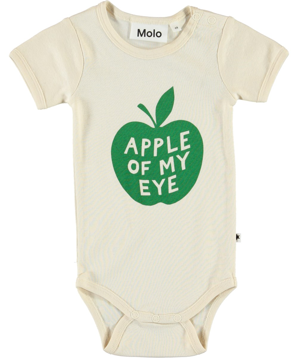 Fossie - Little Apple - Økologisk baby body med æble