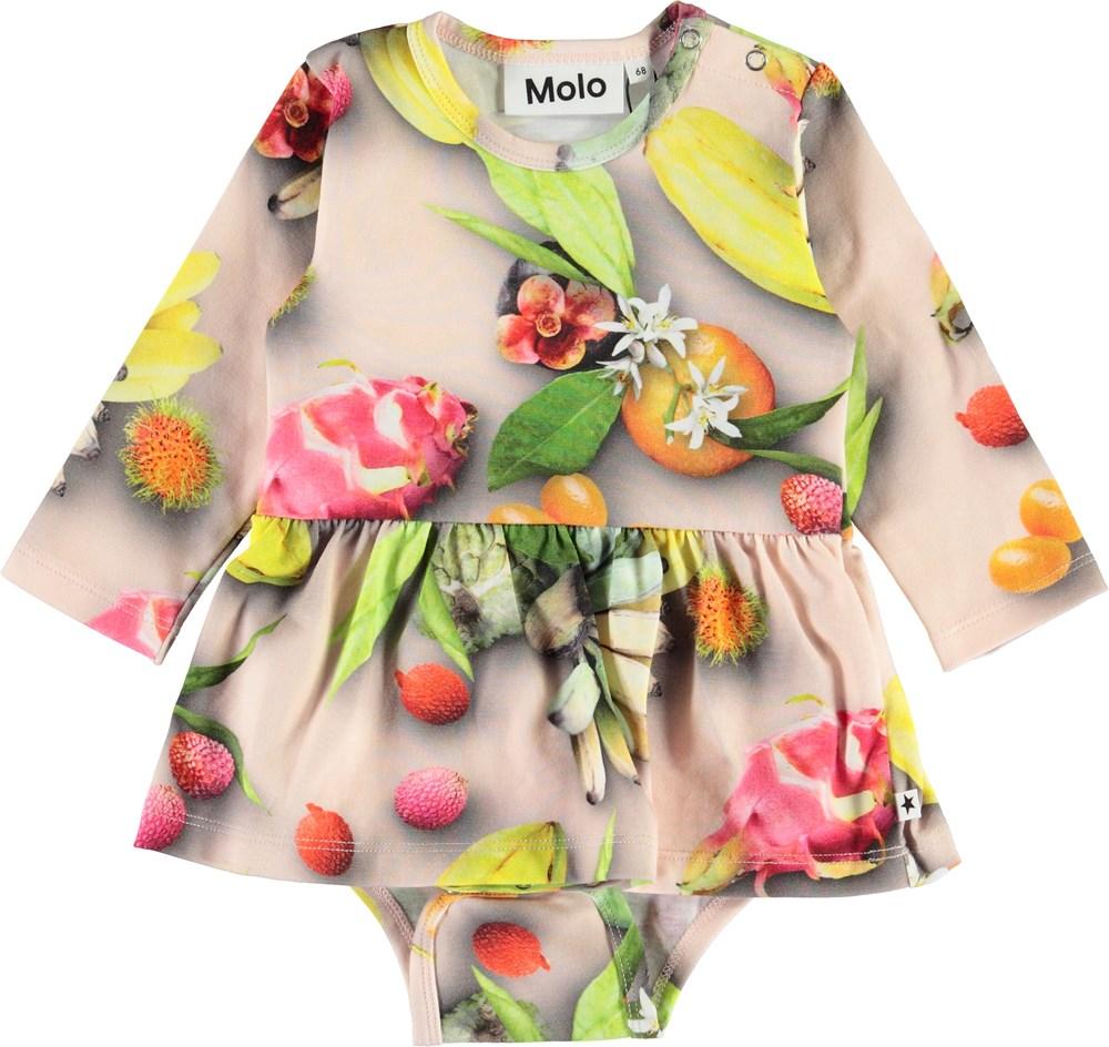 Frances - Tutti Frutti - Økologisk baby body med frugter og skørt