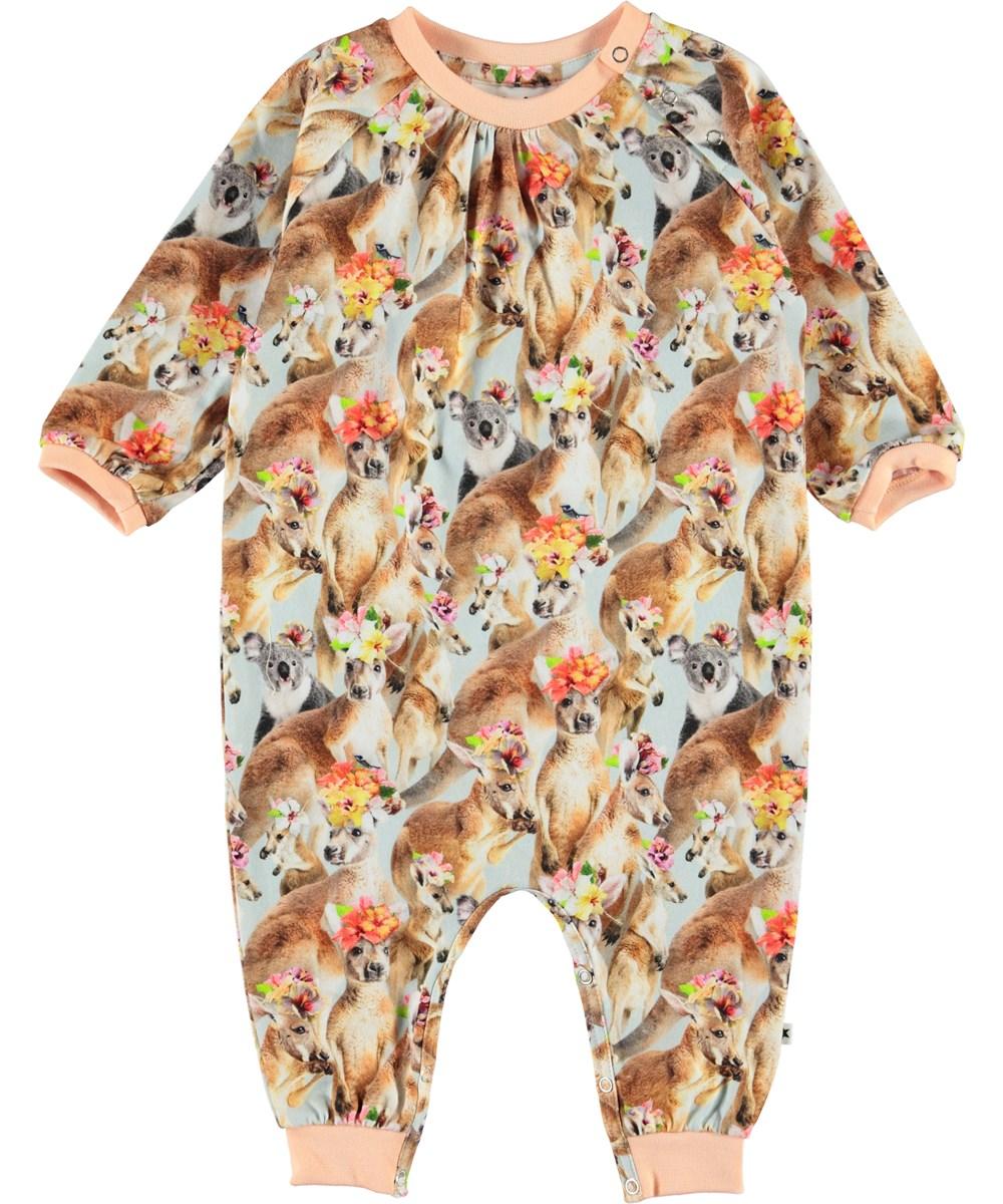 Francine - Kindred Kangaroo - Økologisk baby dragt med kænguruer