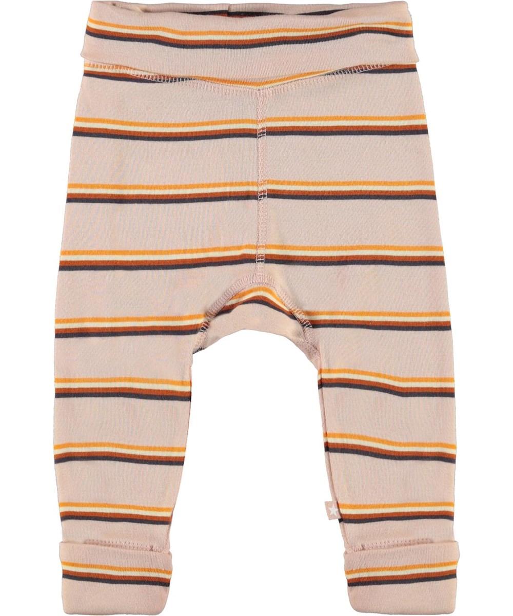 San - Cameo Stripe - Økologiske lyserøde baby bukser med striber
