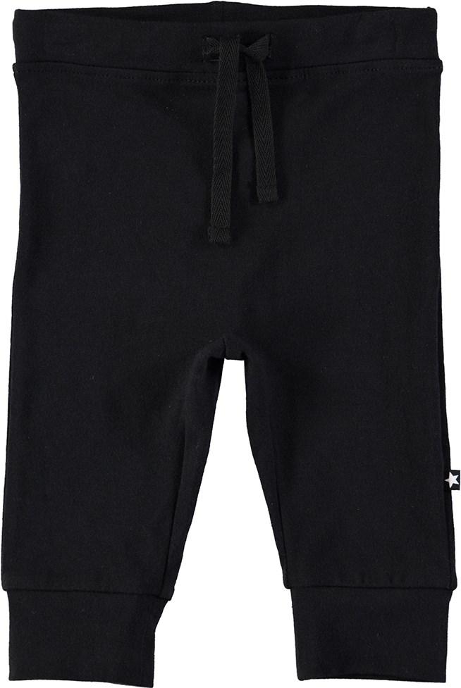 Selena - Black - Sorte baby bukser med snøre