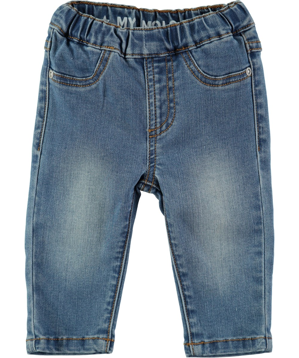 Shilo - Blast Blue - Jeans med elastik i taljen