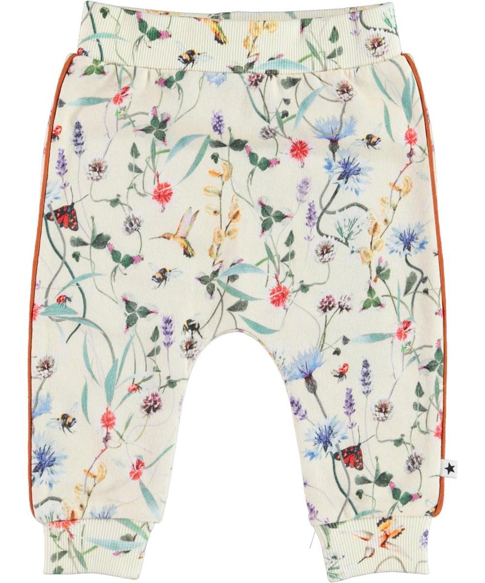 Shona - Wildflowers_Baby - Økologiske lyse baby bukser med blomster