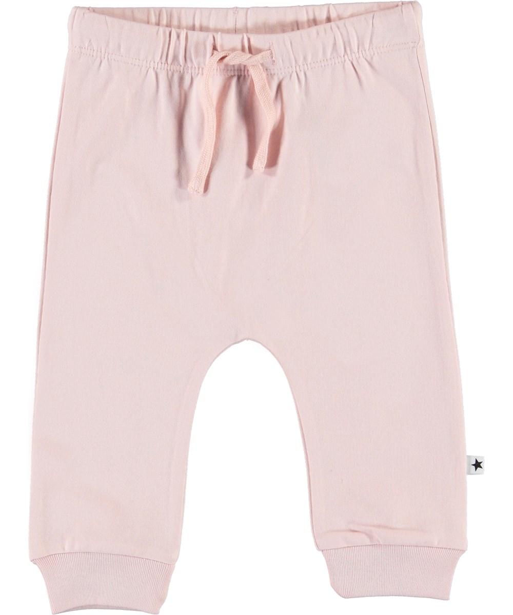 Sille - Powder - Lyserøde baby bukser med bindebånd