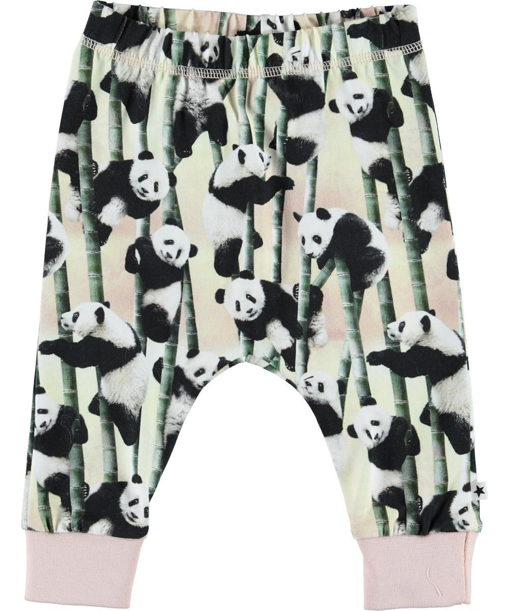 Simone - Yin Yang - Økologiske baby bukser med pandaer