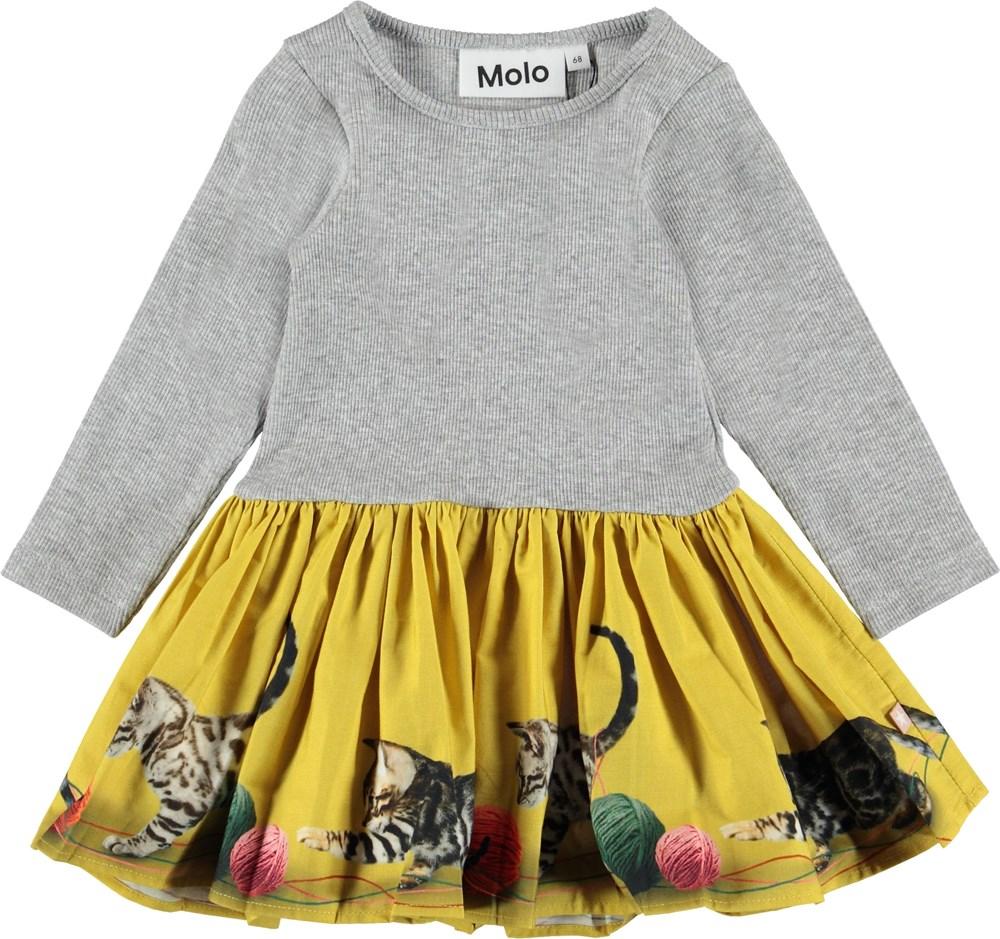 Candi - Playful Kitties Mini - Baby kjole med killinger.